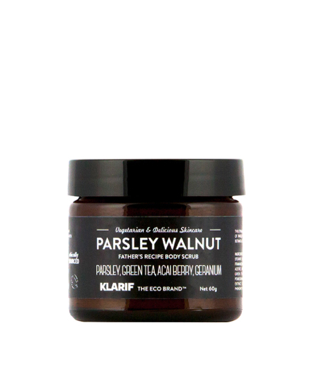 klarif_parsley_walnut_body_scrub