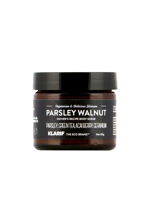 parsley walnut scrub